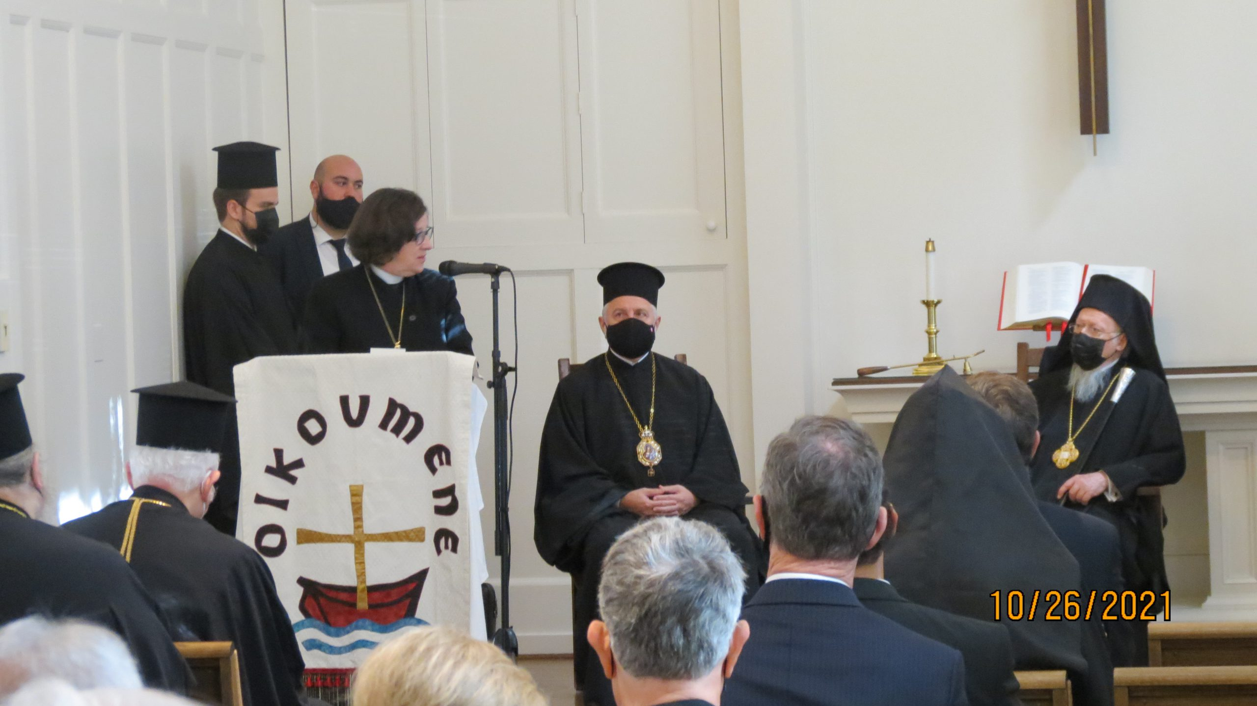 Gift of a Cross presented by Bishop Elizabeth Eaton, NCC Governing Board Vice Chair