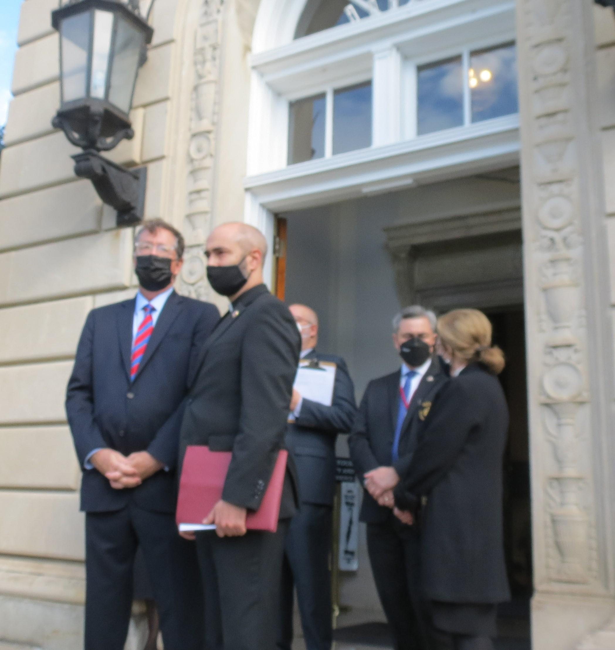 Awaiting the Ecumenical Patriarch's arrival, Father Nicholas Kazarian