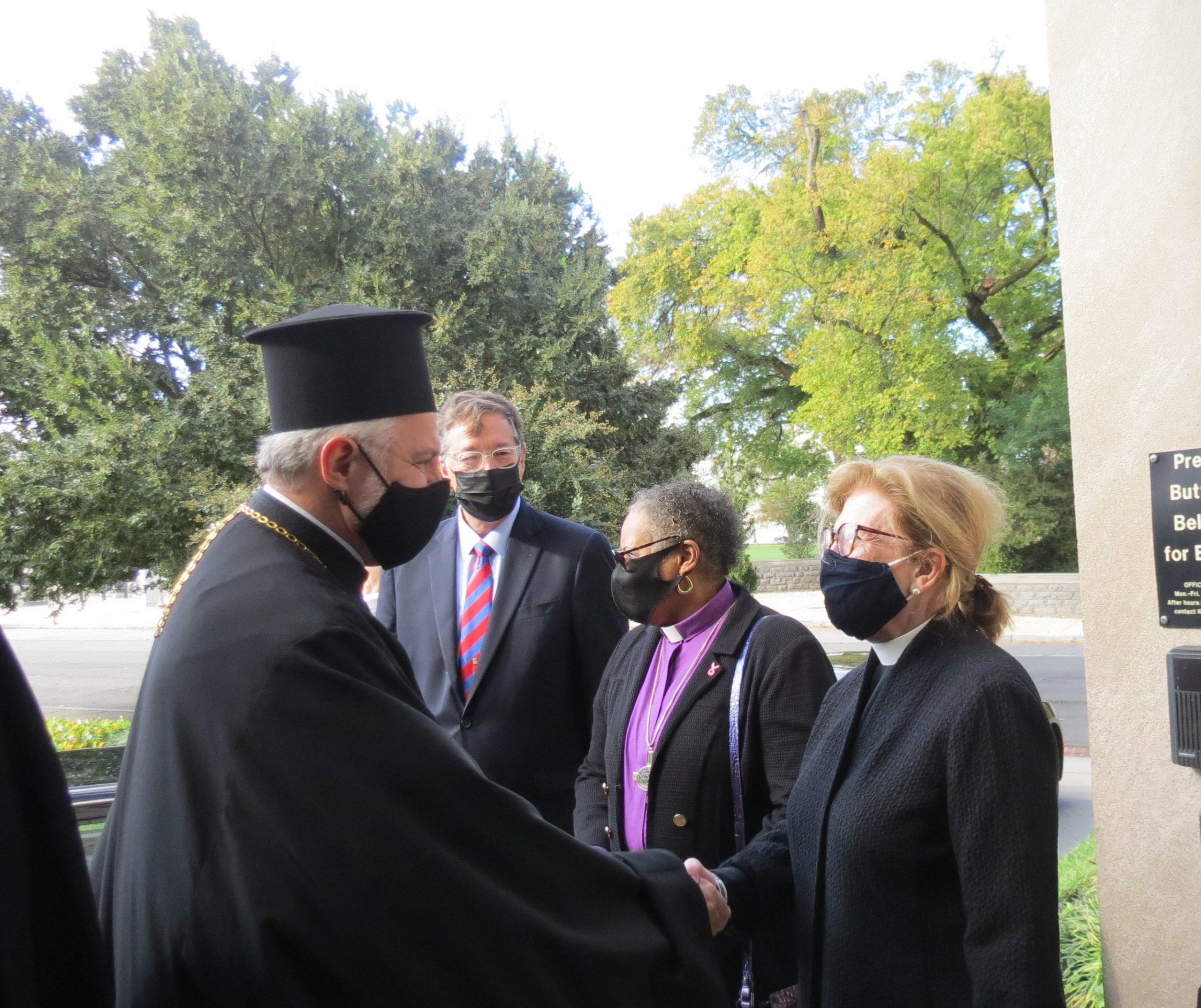 Archbishop Elpidophoros arrives